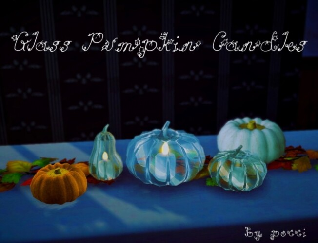 Glass Pumpkin candles by Pocci