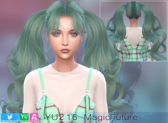 YU216 Magic Future hair (P) at Newsea Sims 4 image 9014 670x491 Sims 4 Updates