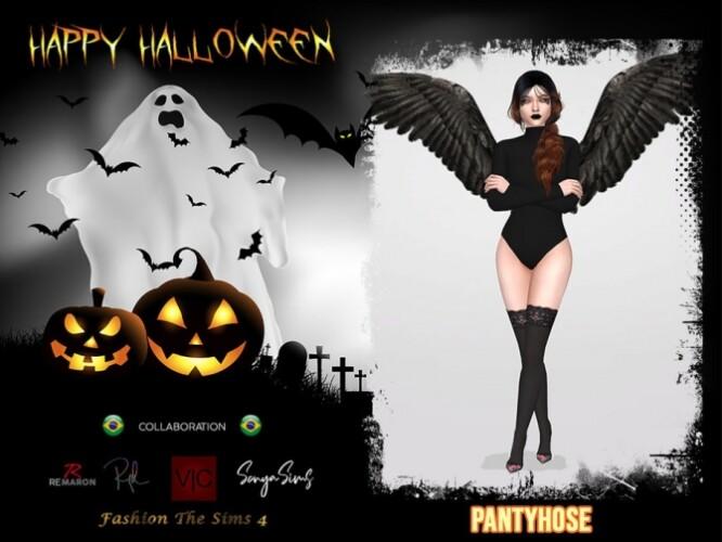 Halloween Angel Pantyhose 01 by remaron