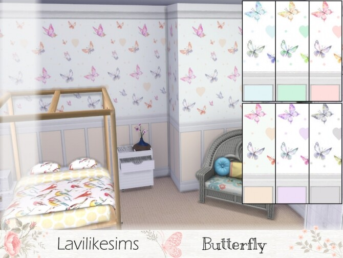 Sims 4 Butterfly Panels by lavilikesims at TSR