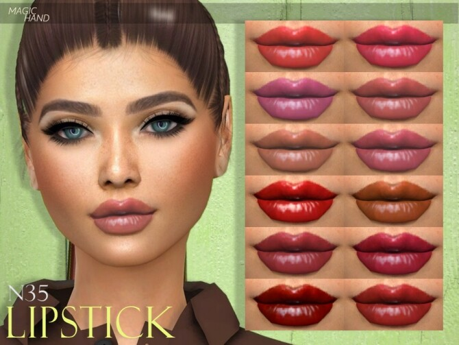 Sims 4 Lipstick N35 by MagicHand at TSR