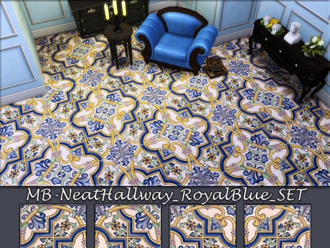 Neat Hallway Royal Blue SET by matomibotaki