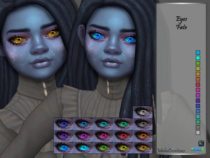 Sims 4 Eyes Fate by MahoCreations at TSR