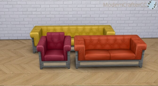 Sims 4 Unbashed Lounge Recolour Set at Modern Crafter CC