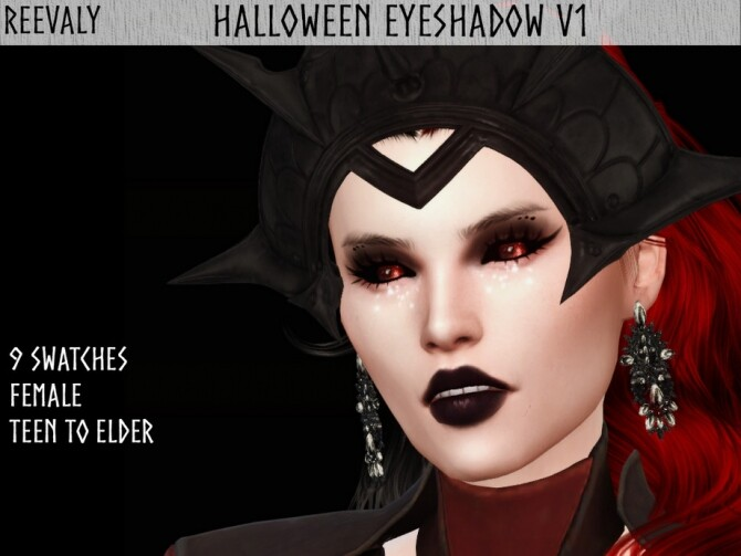 Halloween Eyeshadow V1 by Reevaly at TSR image 9917 670x503 Sims 4 Updates