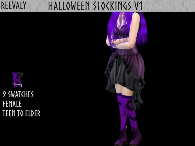 Halloween Stockings V1 by Reevaly