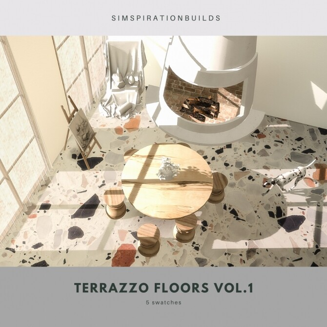 Sims 4 Terrazzo floors vol.1 at Simspiration Builds