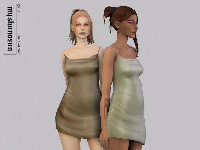 Sims 4 Syrup dress by myshunosun at TSR