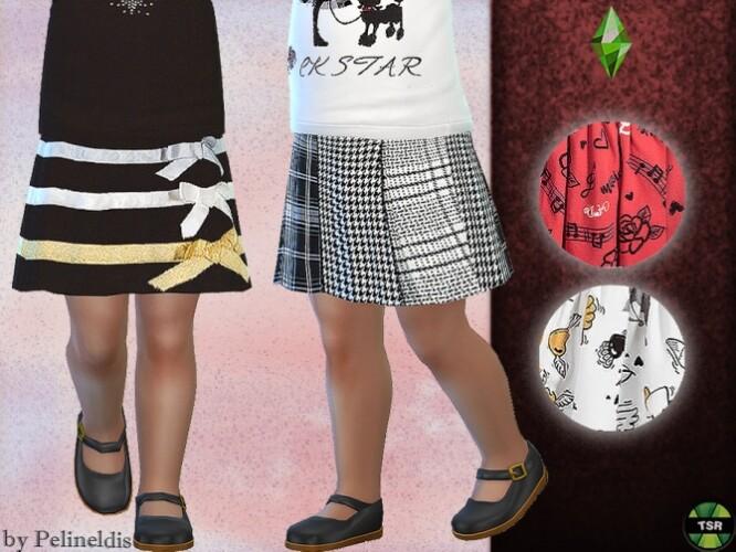Toddler Festive Skirt by Pelineldis