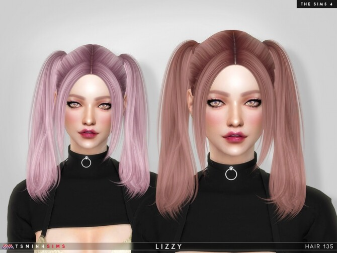 Sims 4 Lizzy Hair 135 by TsminhSims at TSR