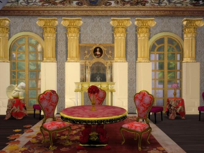 Set Gilded Table ArmChair