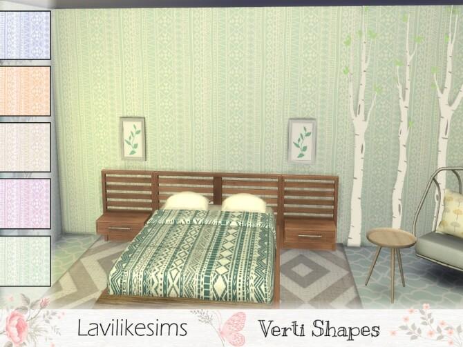 Sims 4 Verti Shapes wallpaper by lavilikesims at TSR
