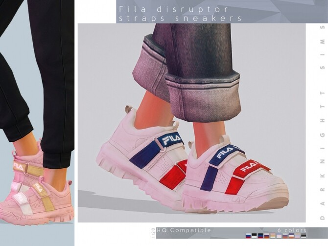 Sims 4 Disruptor Straps Sneakers by DarkNighTt at TSR