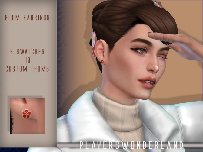 Plum Earrings by PlayersWonderland at TSR image 1030 670x503 Sims 4 Updates
