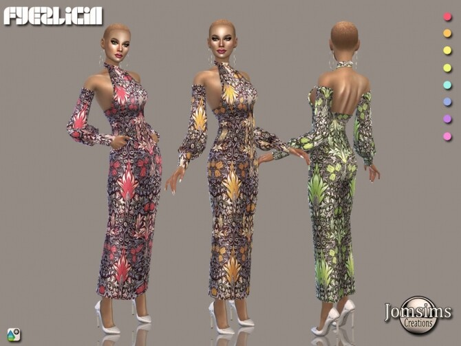 Sims 4 Fyezlicia dress by  jomsims at TSR