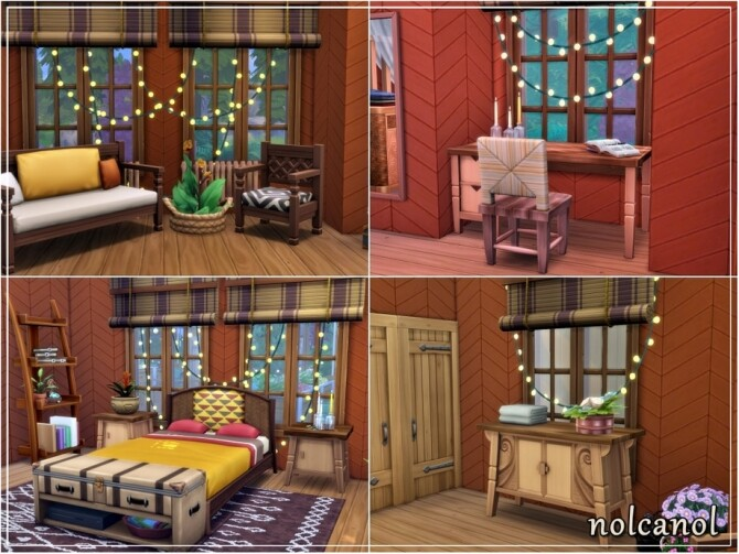 House among trees by nolcanol at TSR image 1038 670x503 Sims 4 Updates