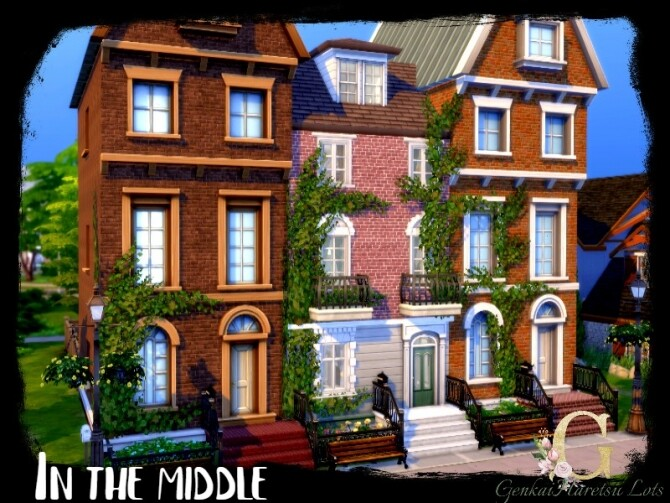 Sims 4 In the middle house by GenkaiHaretsu at TSR