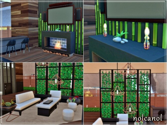 Modern Shila house by nolcanol at TSR image 1040 670x503 Sims 4 Updates