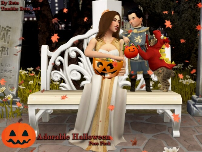 Adorable Halloween Pose Pack by Beto_ae0
