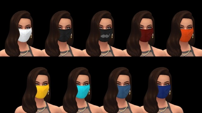 Sims 4 Myss Keta Inspired Face Masks by littledica at Mod The Sims