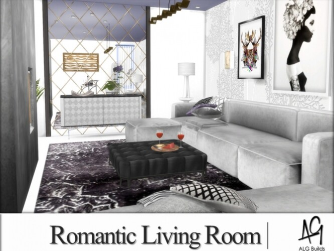 Romantic Living Room by ALGbuilds