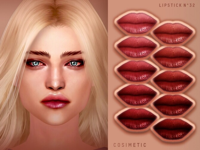 Sims 4 Lipstick N32 by cosimetic at TSR