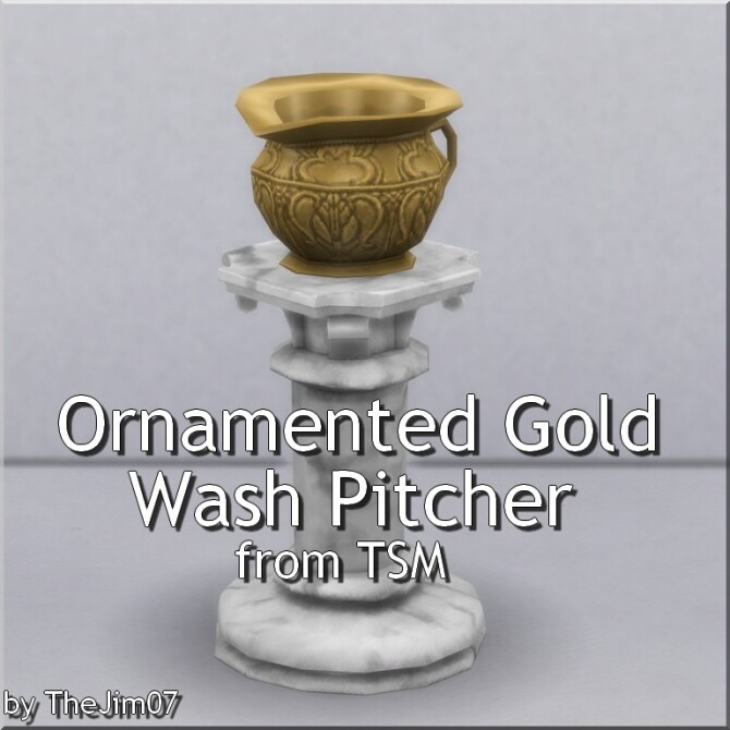 Ornamented Gold Wash Pitcher by TheJim07