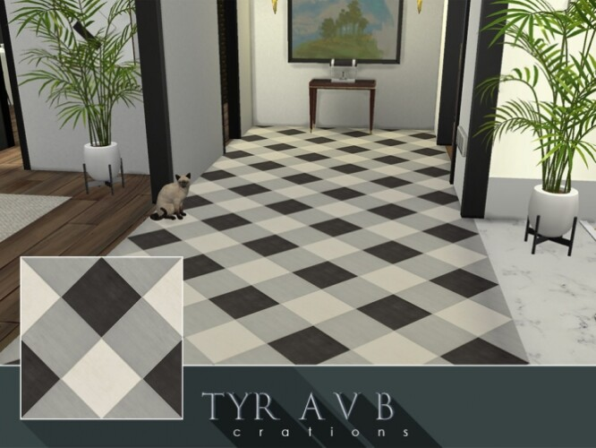 Modern Plaid Floor Tiles by TyrAVB