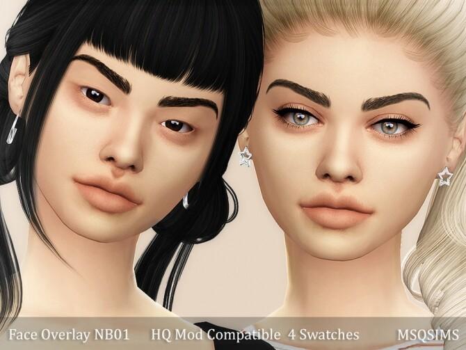 Sims 4 Face Overlay NB01 at MSQ Sims