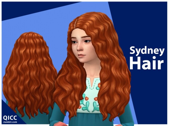Sims 4 Sydney Hair for girls by qicc at TSR