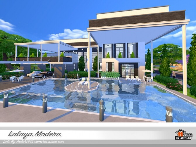 Sims 4 Lalaya Modern Home by autaki at TSR