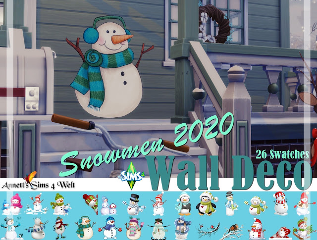 Wall Deco Snowmen 2020