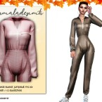 Zipper Neck Sweat Jumpsuit MC101 by mermaladesimtr