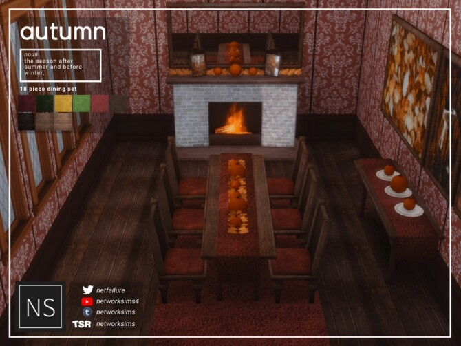 Autumn Dining by Networksims at TSR image 1101 670x503 Sims 4 Updates