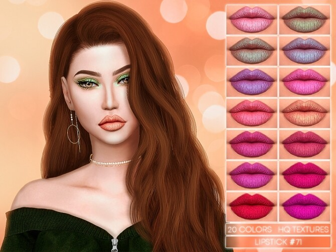 Sims 4 LIPSTICK #71 by Jul Haos at TSR