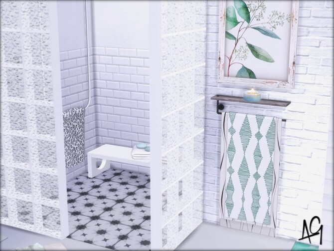 Sims 4 Romantic Spa Bath by ALGbuilds at TSR
