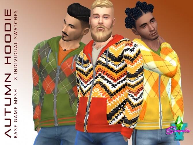 Sims 4 Autumn Hoodies by SimmieV at TSR