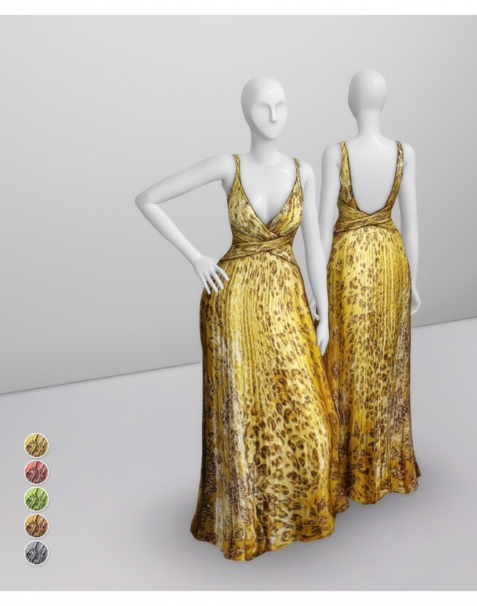 Yellow Leopard Gown at Rusty Nail image 1124 670x851 Sims 4 Updates