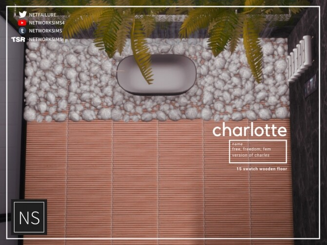 Sims 4 Charlotte Wooden Floor by Networksims at TSR