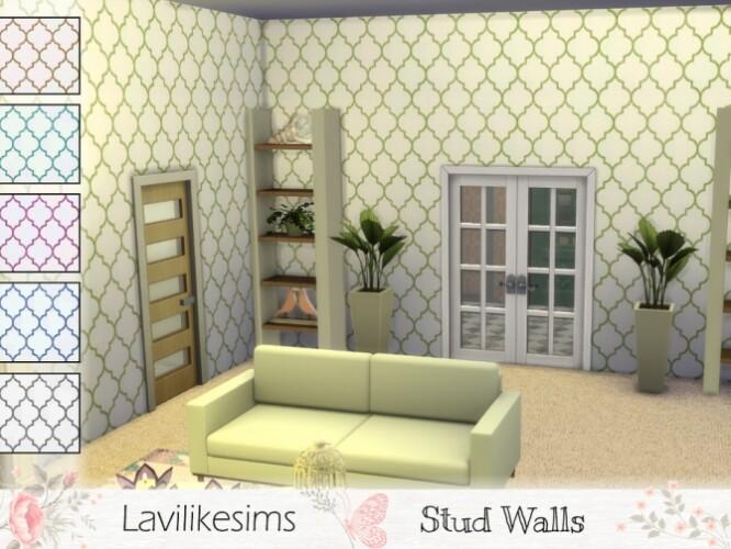 Stud Walls by lavilikesims