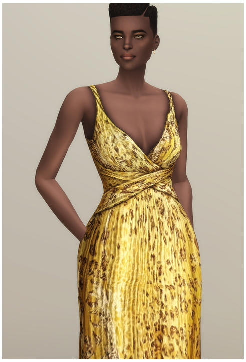 Yellow Leopard Gown at Rusty Nail image 1134 Sims 4 Updates