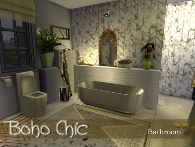 Boho Chic Bathroom by fredbrenny