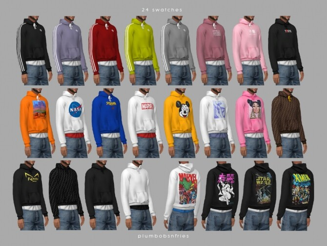 Sims 4 HUNTER hoodie by Plumbobs n Fries at TSR