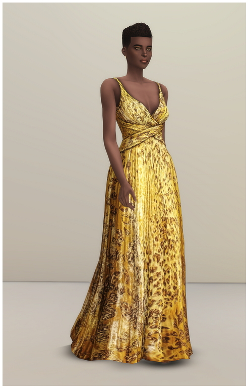 Yellow Leopard Gown at Rusty Nail image 1144 Sims 4 Updates