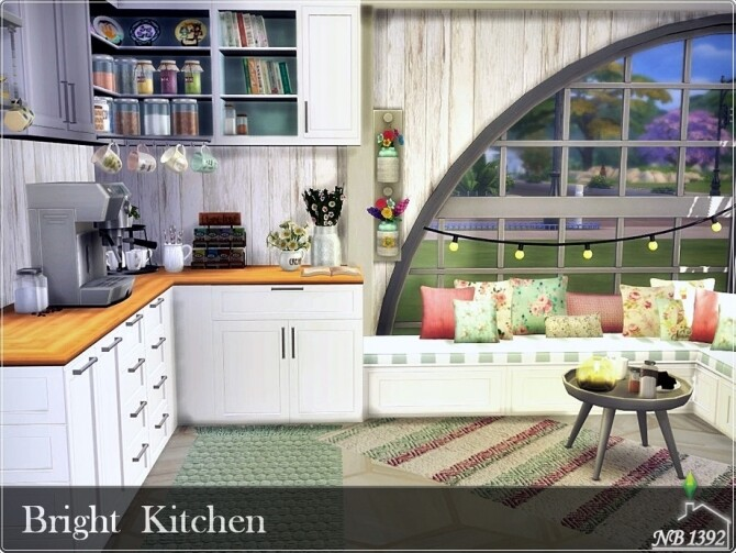 Bright Kitchen by nobody1392 at TSR image 1150 670x503 Sims 4 Updates