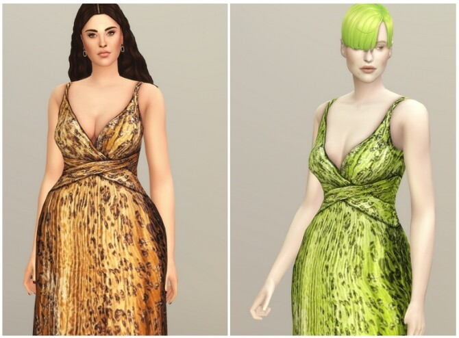 Yellow Leopard Gown at Rusty Nail image 1154 670x494 Sims 4 Updates