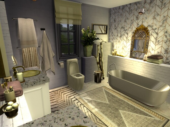 Sims 4 Boho Chic Bathroom by fredbrenny at TSR