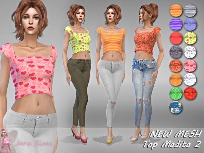 Sims 4 Top Madita 2 by Jaru Sims at TSR