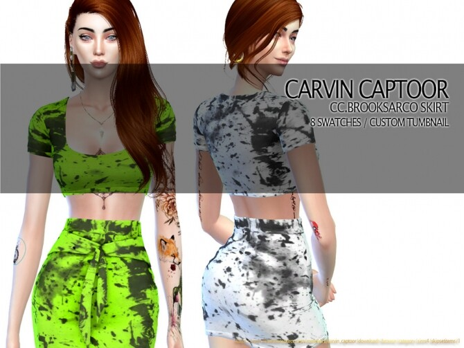 Sims 4 Brooksarco Skirt by carvin captoor at TSR