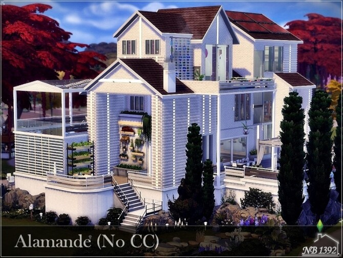 Alamande house by nobody1392 at TSR image 1180 670x503 Sims 4 Updates